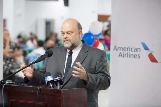 U.S. Ambassador Perry Holloway speaking at the inauguration ceremony