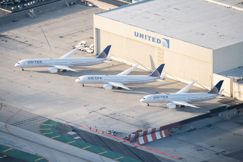 United Airlines 787 Dreamliners