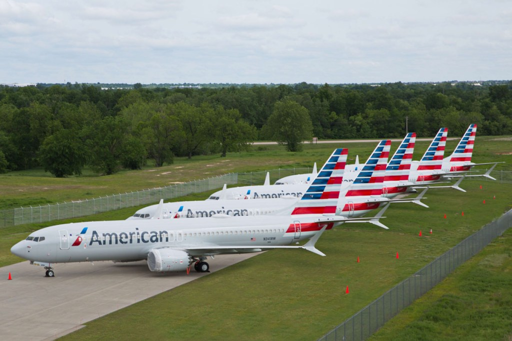 American Airlines parked 737MAX
