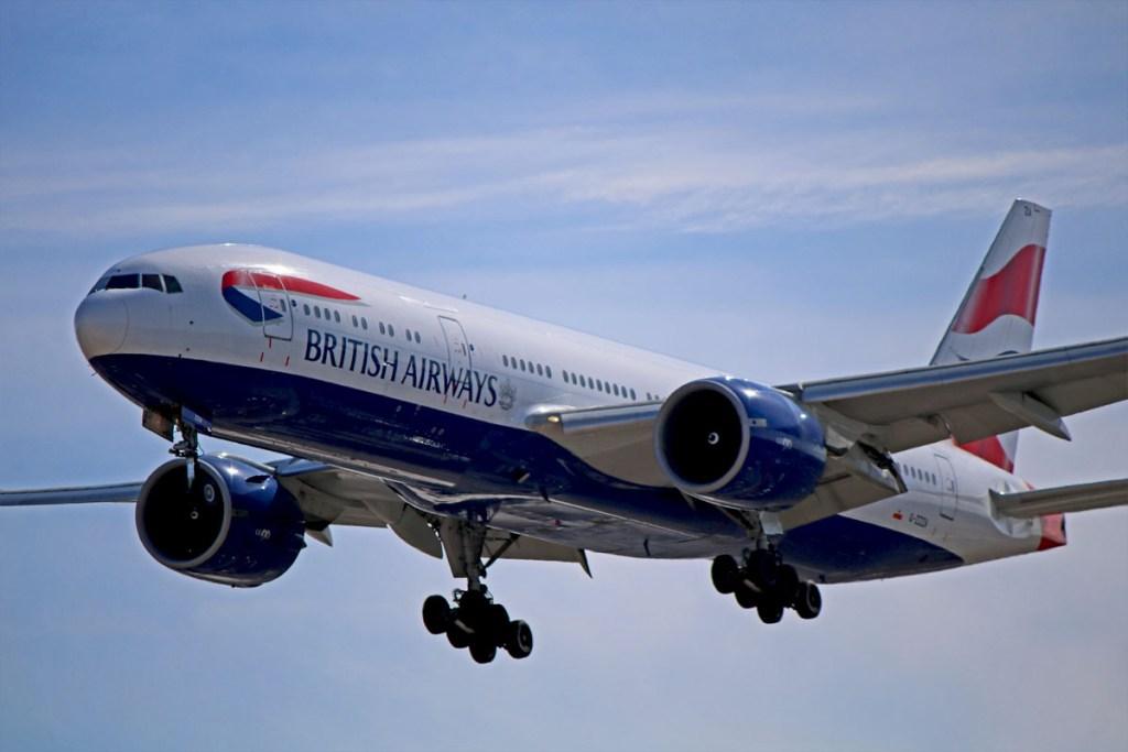BA 777 landing