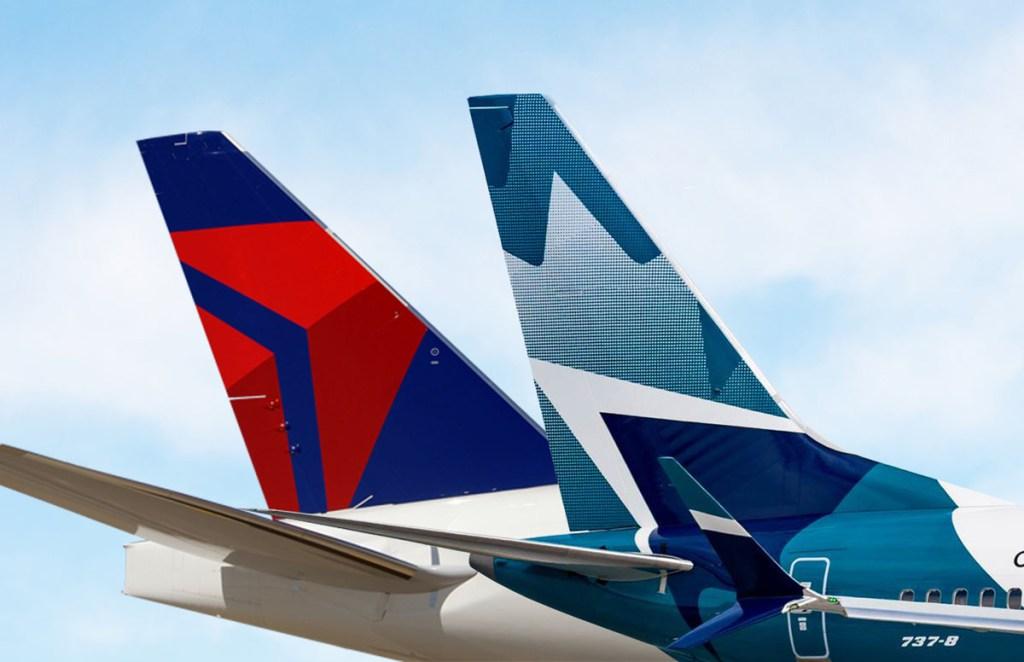 WestJet and Delta tails