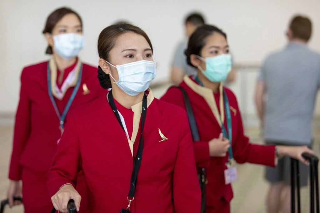 Chinese flight attendants