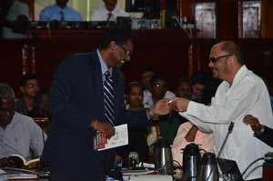 AFC Leader, Khemraj Ramjattan, and Health Minister, Dr. Bheri Ramsaran