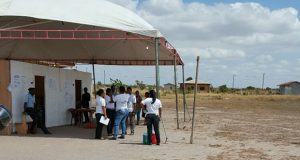 The Tabatinga Sports Complex was the only polling station with a queue on Friday