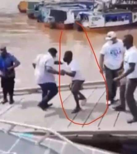 The Dramatic Moment President Ali Almost Plunged into the Essequibo River