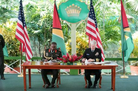 Guyana Signs Bilateral Defense Agreement with the USA