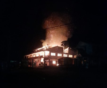 Fire Guts North West Secondary School at Mabaruma