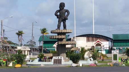 Cuffy Statue or The 1763 Monument