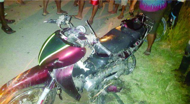 Bajnauth Samaroo's motorcycle
