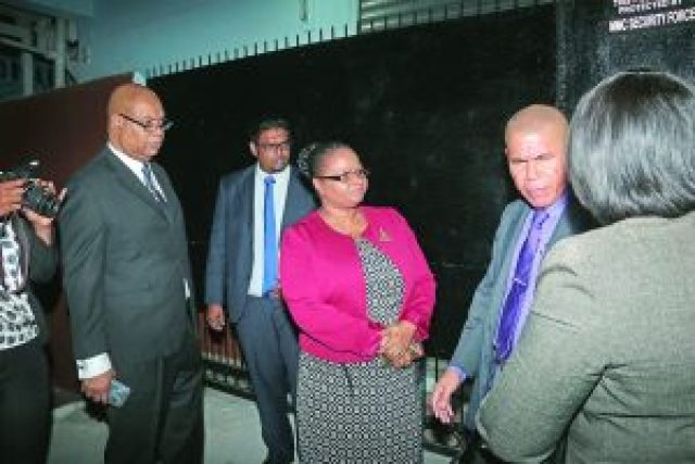 Opposition and Government MPs waiting to enter the bond