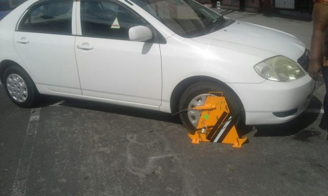 A vehicle clamped on Tuesday despite the court order