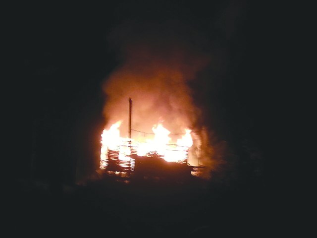 Pearl Savory's house was completely destroyed by the raging fire