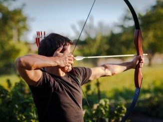 archery bow and arrow man