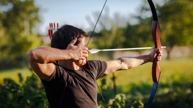 man using archery as a hobby to fight depression
