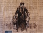 """""""The Disasters of War 10"""", conte and chalk on newsprint, 30 x 20 cm, 2016"""