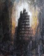 'raft of the medusa', oil on canvas, 75 x 60cm