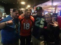 At the Super Bowl!