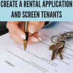 Rental Applications and Screening Tenants