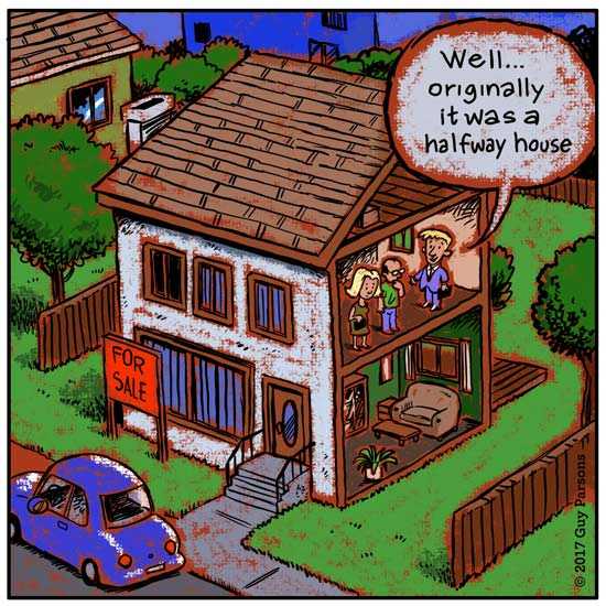cartoon about a halfway house
