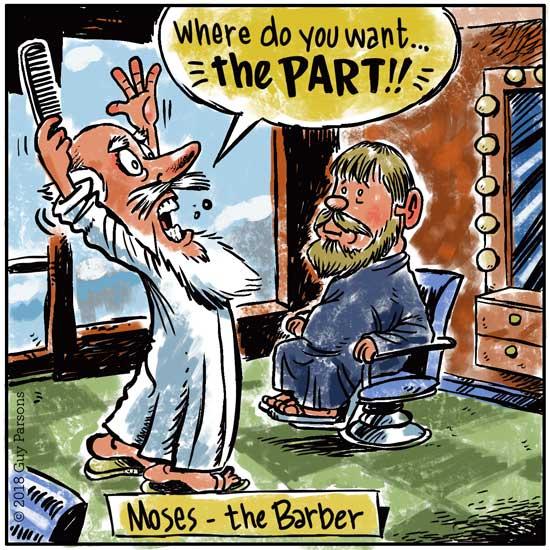 Moses cartoon