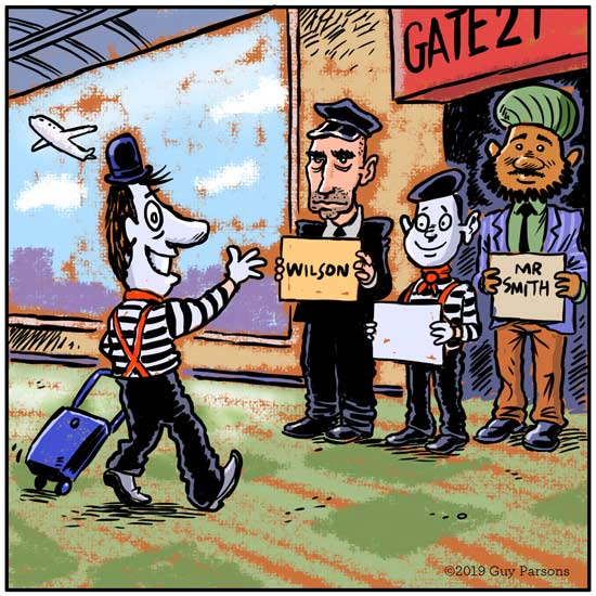Mimes at the airport comic