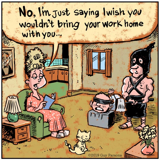 Cartoon about taking work home