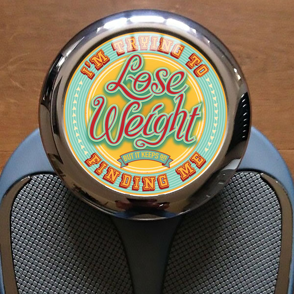 weigh scales graphic design about weight loss