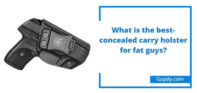 What is the best-concealed carry holster for fat guys