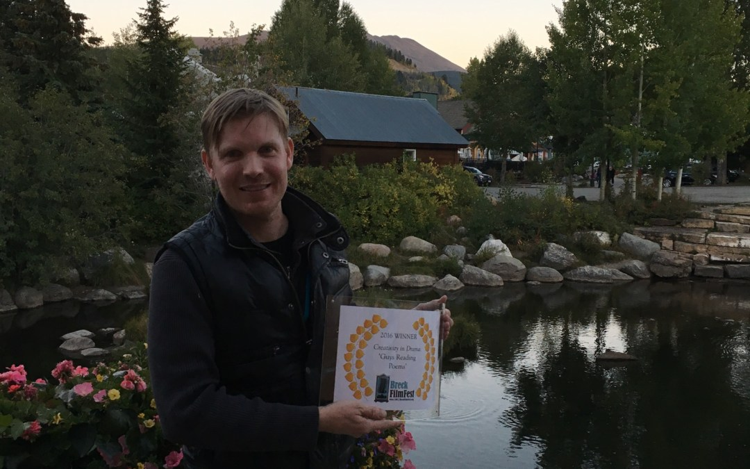 "Guys Reading Poems wins ""Creativity in Drama"" award at Breckenridge Film Festival"