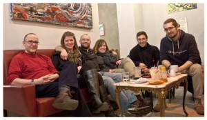 L-R: Guy, Heidi, Chris, Eleanora, Lorenzo, Rodolfo, not overdoing it. (photo by Lorenzo)