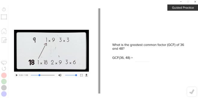 guzinta math gcf lcm
