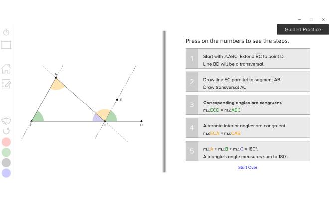 guzinta math parallel lines transversal
