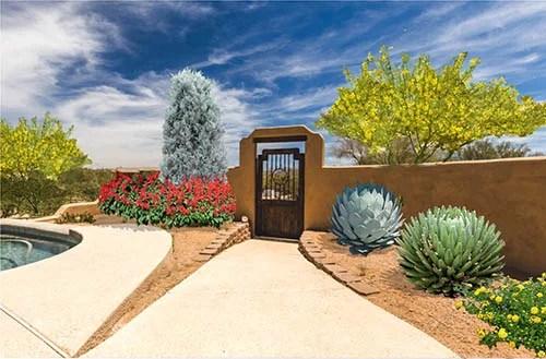 Southwest front yard landscape