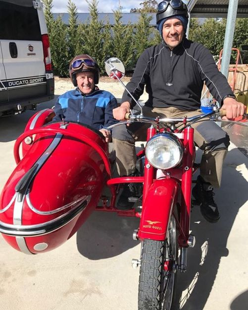 Taking Dad for a ride on the Falcone