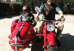 Sunday ride on my 1958 Moto Guzzi Falcone outfit with my daughter Ashlie. I can't find the words to describe the feeling you get riding this special motorcycle. Old bikes rule!