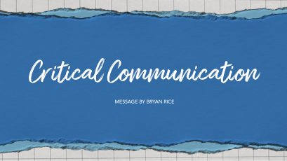 Critical Communication