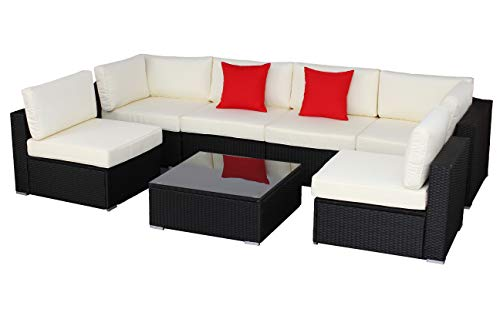 Do4U Patio Sofa 7-Piece Set Outdoor Furniture Sectional
