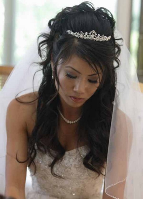Image Result For Wedding Hairstyles For Long Hair Half Up With Veil