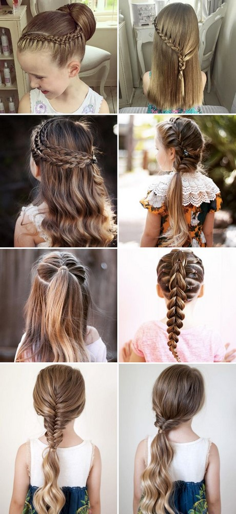 Braided Bun Hairstyles For First Communion