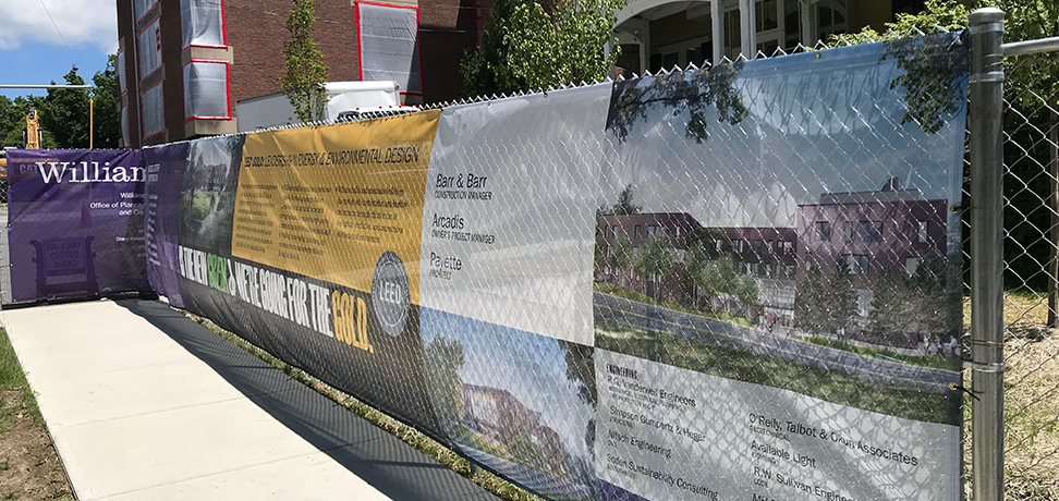 large format construction fence banners