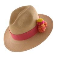 PomPom Hat-Pink-II-Angle