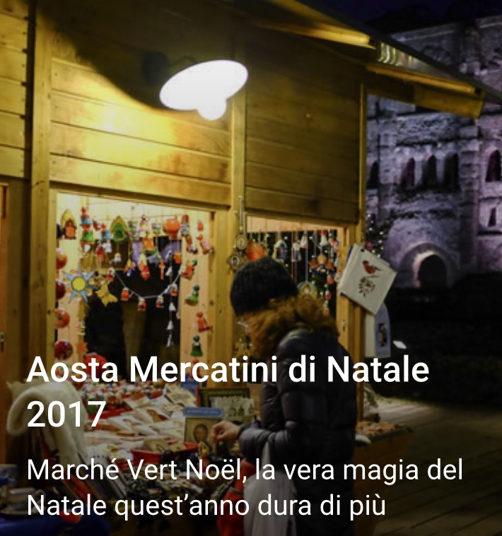 Fly-out Mercatini di Natale Aosta
