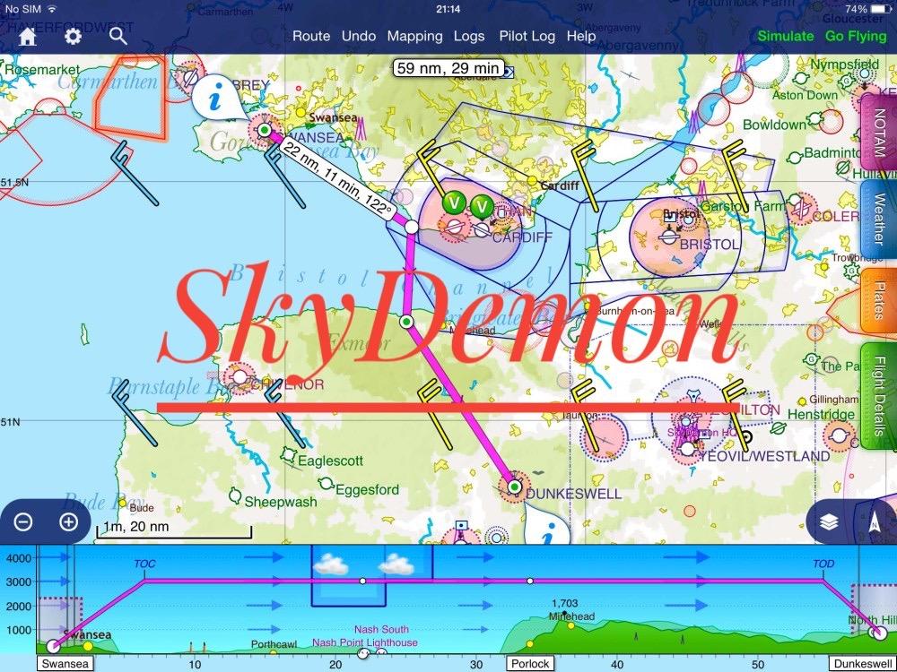 Tool pianificazione e navigazione: SkyDemon