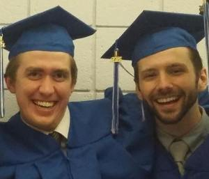 Chad Marriott (L) and Cody Robison (R) will attend MFA programs this fall.