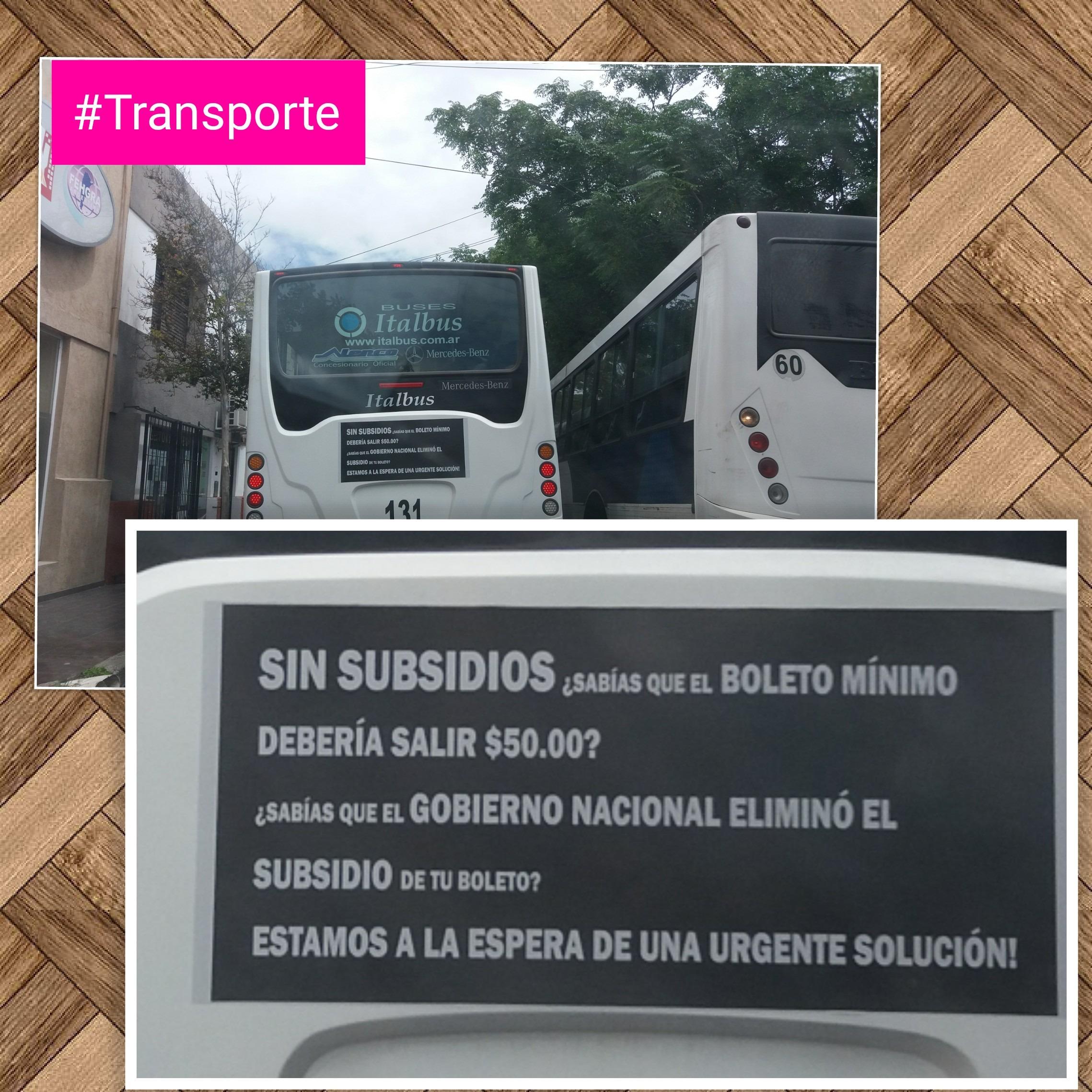 #Transporte El curioso cartel de los colectivos en San Luis