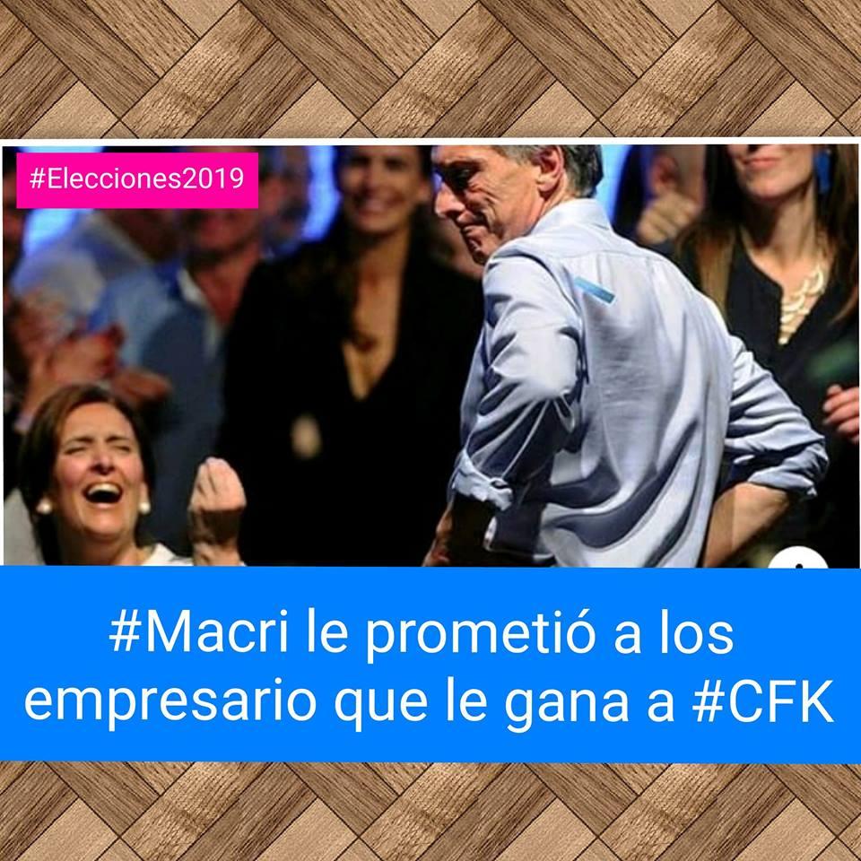 #Macri le prometió a los empresarios que le ganará a #CFK
