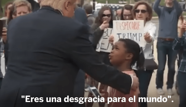 niña Trump Eres una desgracia