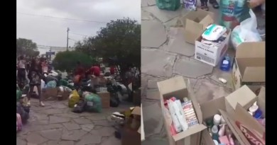 solidaridad incendios Chubut