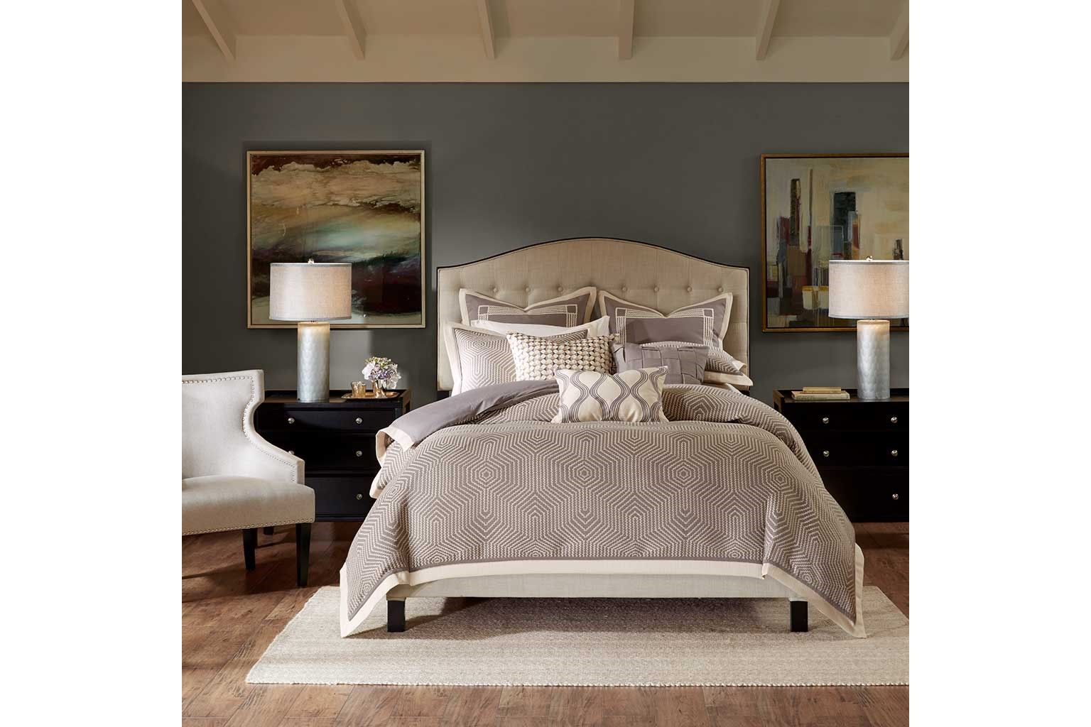 shades of grey queen comforter set by madison park signature