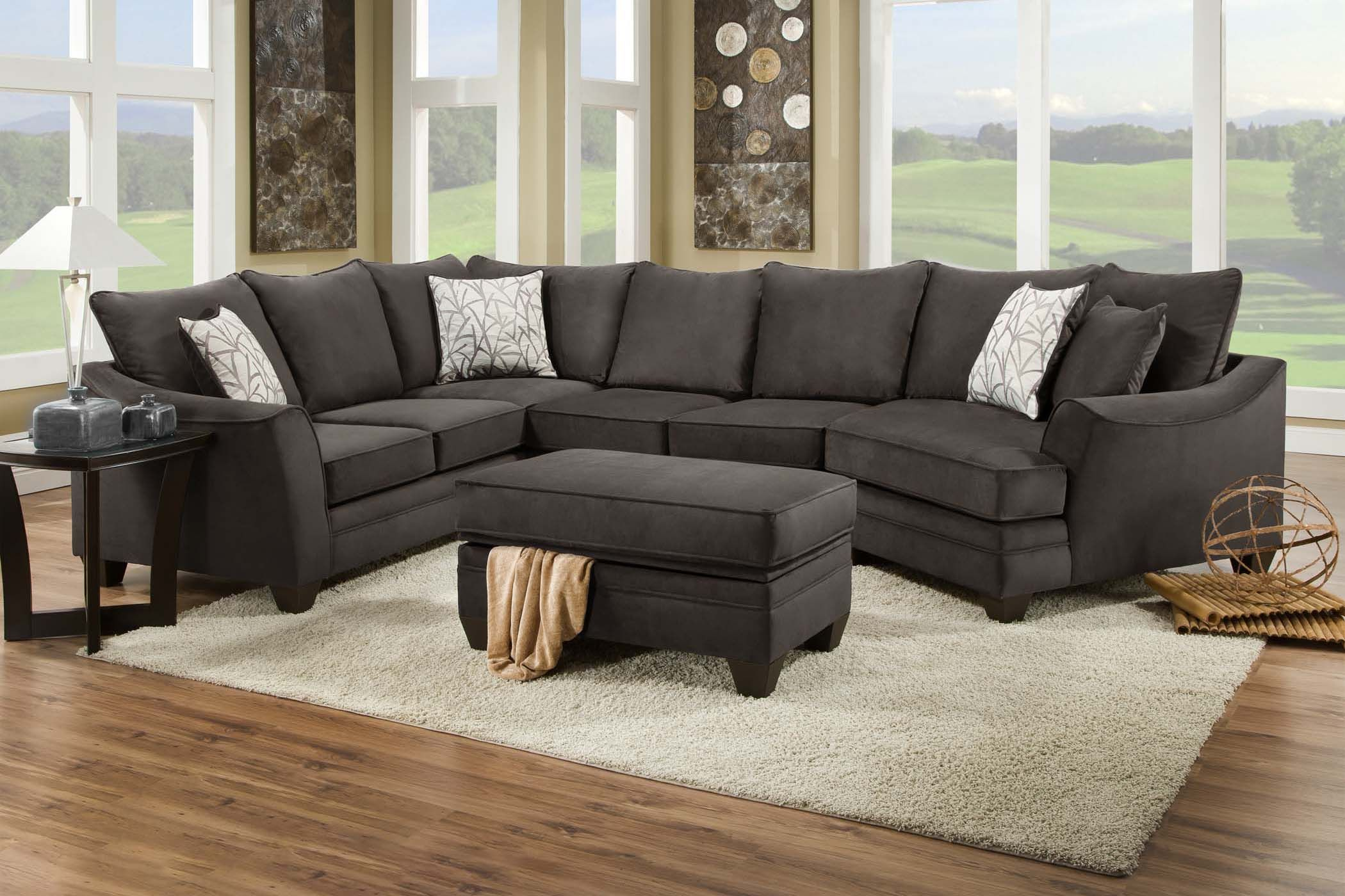 cosmo microfiber sectional